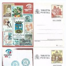 Sellos: CAJA P2/ EDF. 135/36, TARJETAS POSTALES 1984, COMPLETA 2 TARJETAS, NUEVAS**. Lote 51174096