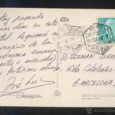 Stamps - TP circulada con matasello *Correo Aéreo. Aeropuerto Málaga. 24 Junio 1976* - 51316835