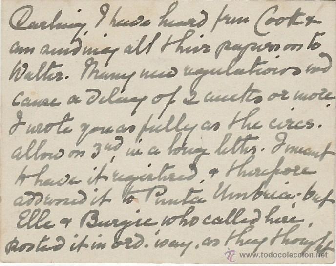 Sellos: Tarjeta Postal de Guildford a Huelva. de 5 Sep.1939. Con sello 211 y Censura Militar de Huelva. - Foto 2 - 22570783