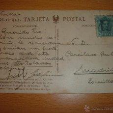 Sellos: ANTIGUA POSTAL SELLADA ALFONSO XIII, 1928. Lote 51751926