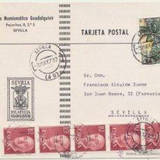 Francobolli: TARJETA POSTAL DE SEVILLA A SEVILLA DEL 3 MAY. 1973. CON EDIFIL 2120 Y 1143 (5).. Lote 52479898