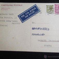 Sellos: ITALIA. TARJETA POSTAL CON MATASELLO: AÑO 1971. Lote 52747457