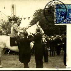 Sellos: RUMANIA 1929- YV 0370 [ FERNANDO I DE RUMANIA ] (TARJETA MÁXIMA). Lote 52954735