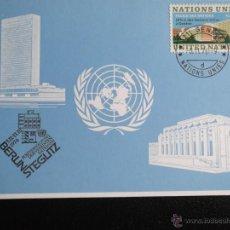 Naciones Unidas (Ginebra). TP 22 Fachada del Palacio de las Naciones. 1972. Tarjeta postal con mata