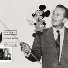 Sellos: SPAIN 2015 - THE WORLD OF CINEMA - WALT DISNEY SPECIAL MAXICARD. Lote 109284100