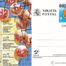 Sellos: TARJETA POSTAL: ESPAÑA - 82 GRUPOS DEL MUNDIAL FUTBOL. Lote 53693230