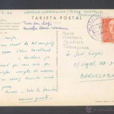 Timbres: TP MATASELLOS FECHADOR *PLAYA MONT-ROIG. TARRAGONA - CAMPING* AÑO 1966. TINTA LILA.. Lote 53769306