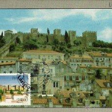 Francobolli: PORTUGAL 1987- YV 1710 [ CASTILLO DE SAN JORGE ] (TARJETA MÁXIMA). Lote 53780705