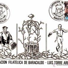 Sellos: TARJETA POSTAL: 1982 BARACALDO. AGRUPACION FILATELICA LUIS TORRE AREJULA. Lote 53797183