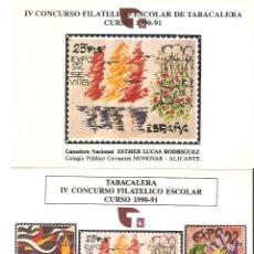 Sellos: DOS POSTALES TABACALERA. Lote 55044148