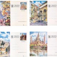 Selos: ESPAÑA 1973. TARJETAS ENTERO POSTALES. TURISMO Nº 101 - 104. BARCELONA, MADRID, CORDOBA Y ZARAGOZA.. Lote 119966358