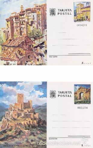ESPAÑA 1975. TARJETAS ENTERO POSTALES. TURISMO Nº 111 - 112. CUENCA Y JAEN. (Sellos - España - Tarjetas)
