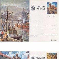 Sellos: ESPAÑA 1976. TARJETAS ENTERO POSTALES. TURISMO Nº 113 - 114. BILBAO Y PONTEVEDRA.. Lote 95702750