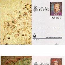 Sellos: ESPAÑA 1980. TARJETAS ENTERO POSTALES. ESPAMER 80. Nº 121 - 122. MATEO PRUNES Y JUAN DE LA COSA. Lote 95703350