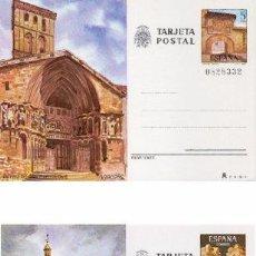 Sellos: ESPAÑA 1980. TARJETAS ENTERO POSTALES. TURISMO Nº 123 - 124. LOGROÑO Y TERUEL.. Lote 95702910