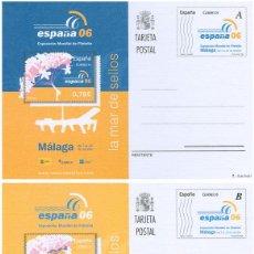 Stamps - ESPAÑA 2006. EXPOSICION MUNDIAL DE FILATELIA. MALAGA 06. Nº 174 - 175. - 55345234