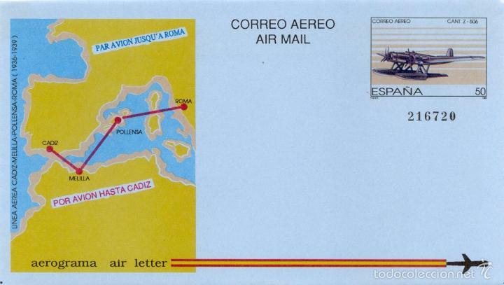 ESPAÑA 1989. AEROGRAMA 214 (Sellos - España - Tarjetas)