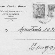 Sellos: TARJETA COMERCIAL DE 1946. Lote 56541465