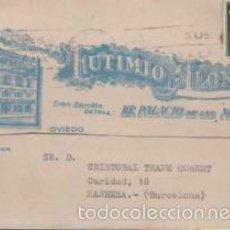 Selos: TARJETA URGENTE DEL PALACIO DE LAS MEDIAS, OVIEDO DE FUTIMIO ALONSO, TEJIDOS, TEXTIL.. Lote 56724766