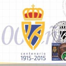 Sellos: SPAIN 2016 - CENT. FEDERACIÓN FÚTBOL. PRINCIPADO ASTURIAS SPECIAL MAXIMUM CARD. Lote 183017646