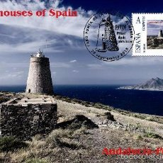 Francobolli: SPAIN 2014 - LIGHTHOUSES OF SPAIN COLLECTION - ANDALUCIA (LA POLACRA) MAXICARD. Lote 56976867