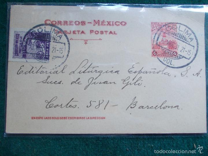 TARGETA POSTAL CORREOS MEXICO (Sellos - Extranjero - Tarjetas)