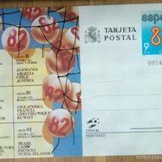 Sellos: TARJETA POSTAL - CALENDARIO ESPAÑA - MUNDIAL 82. Lote 57973488