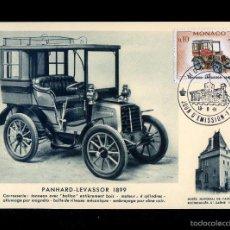 Sellos: *PANHARD-LEVASSOR 1899* MÓNACO. TP-MAX. FACIAL 0,10 FR. ED. BOURGOGNE. 1961.. Lote 8608964