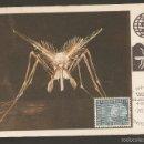 Sellos: LIECHTENSTEIN .1962.CARTA MÁXIMA, CONTROL DE LA MALARIA.INSECTOS.. Lote 60198467