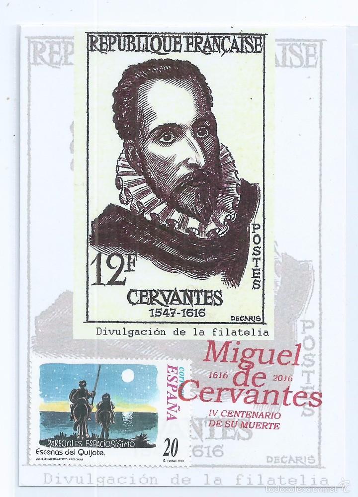 R10/ ESPAÑA, TARJETA, TEMA CERVANTES, MIGUEL DE CERVANTES (Sellos - España - Tarjetas)