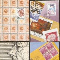 Sellos: SUECIA. 4 CARTAS MÁXIMA. 1985. LA FILATELIA.. Lote 60655663