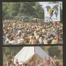 Sellos: SUECIA. CARTA MÁXIMA. 1985. AÑO INTERNACIONAL DE LA JUVENTUD.. Lote 60664175