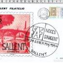 Sellos: TARJETA SALLENT FILATELIC NOCES D´ARGENT/BODAS DE PLATA-SALLENT-1979.. Lote 62311100