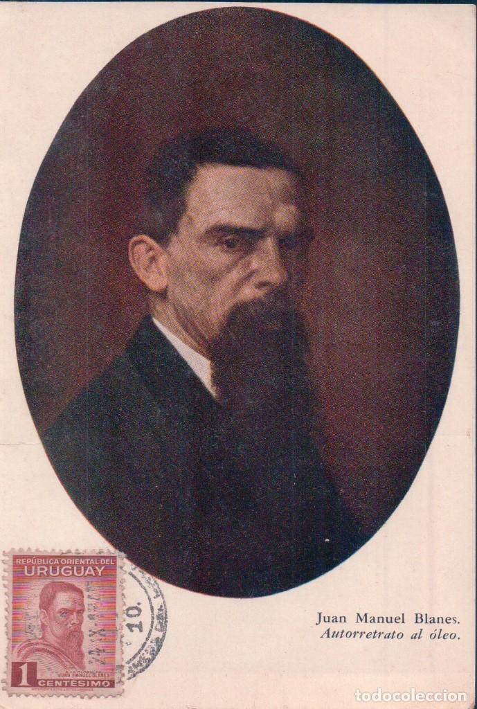 TARJETA MAXIMA DE JJUAN MANUEL BLANES. AUTORETRATO AL OLEO. (Sellos - Extranjero - Tarjetas Máximas)