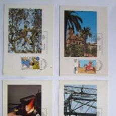 Briefmarken - 4 TARJETAS POSTALES PRIMER DIA AÑO 1984 - 64342087