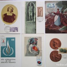Briefmarken - 6 TARJETAS POSTALES PRIMER DIA AÑO 1968 - 64342143