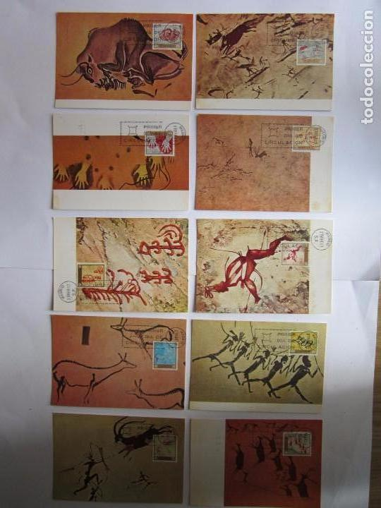 10 TARJETAS POSTALES PRIMER DIA AÑO 1967 HOMENAJE AL PINTOR DESCONOCIDO COMPLETO (Sellos - Extranjero - Tarjetas)