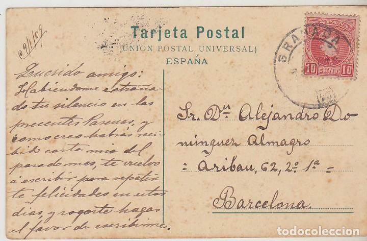 SELLO 243. ALFONSO XIII. GRANADA A BARCELONA. 1909 (Sellos - España - Tarjetas)