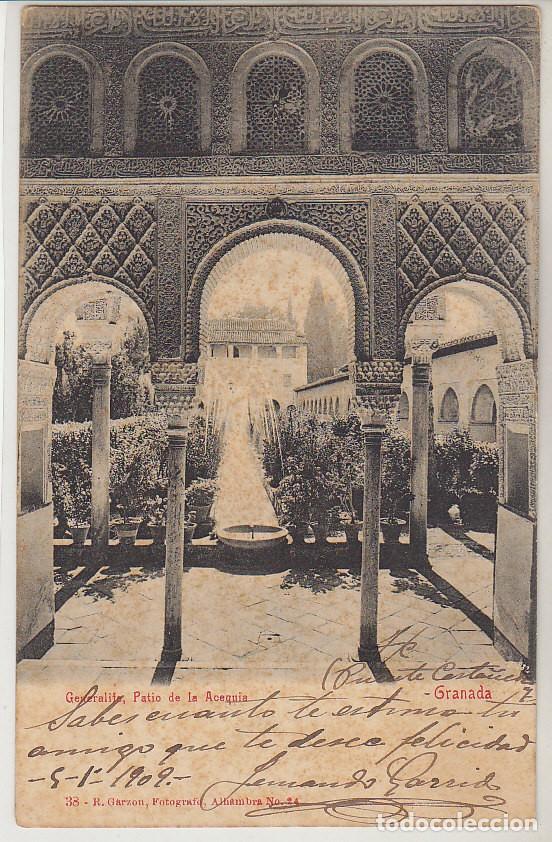 Sellos: Sello 243. ALFONSO XIII. GRANADA a BARCELONA. 1909 - Foto 2 - 64662847