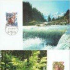 Sellos: 2 TARJETAS MAXIMAS EUROPA DE SUIZA 1986. Lote 66005466