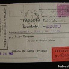 Selos: TARJETA POSTAL DE REEMBOLSO. 1968.. Lote 66829650