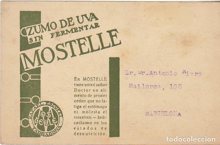 PUBLICIDAD: RAFAEL ESCOFET-TARRAGONA. (Sellos - España - Tarjetas)