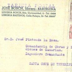 Sellos: CANARIAS. TENERIFE. LOTE DE 4 TARJETAS COMERCIALES.1930-1950.. Lote 67689209