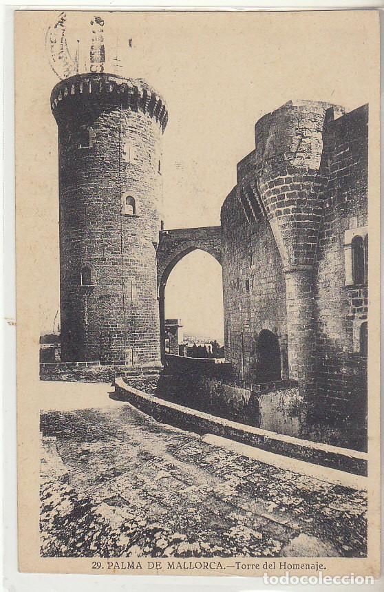 SELLO 493. PALMA DE MALLORCA A BARCELONA (TORRE DEL HOMENAJE).1931 (Sellos - España - Tarjetas)