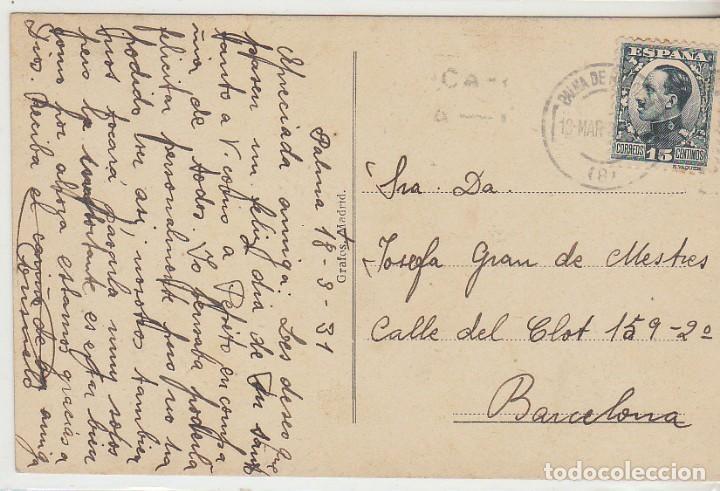 Sellos: sello 493. PALMA DE MALLORCA a BARCELONA (TORRE DEL HOMENAJE).1931 - Foto 2 - 68201545