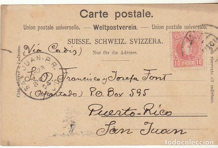 Sellos: sello 243. BARCELONA a PUERTO RICO (SAN JUAN). 1904. - Foto 2 - 68202009