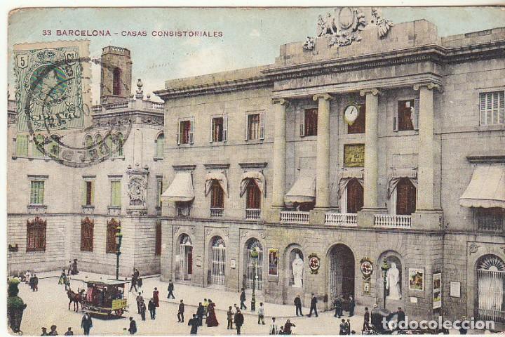 SELLO 268. BARCELONA A DUBLIN (IRLANDA). 1914 (Sellos - España - Tarjetas)
