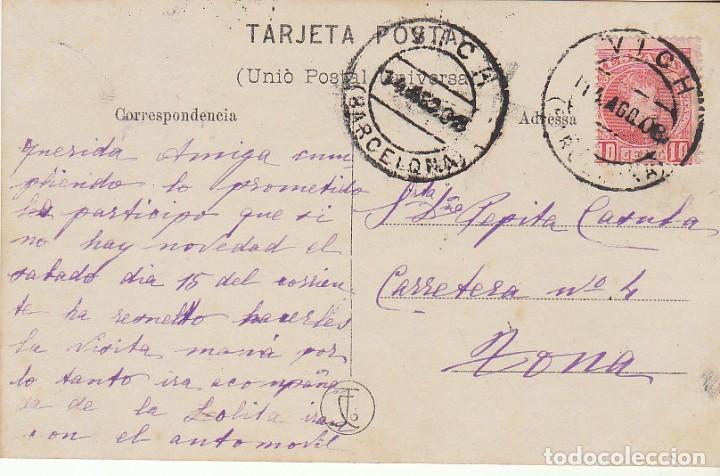 Sellos: Sello 243. ALFONSO XIII. VICH (INTERIOR). 1908. - Foto 2 - 68730457