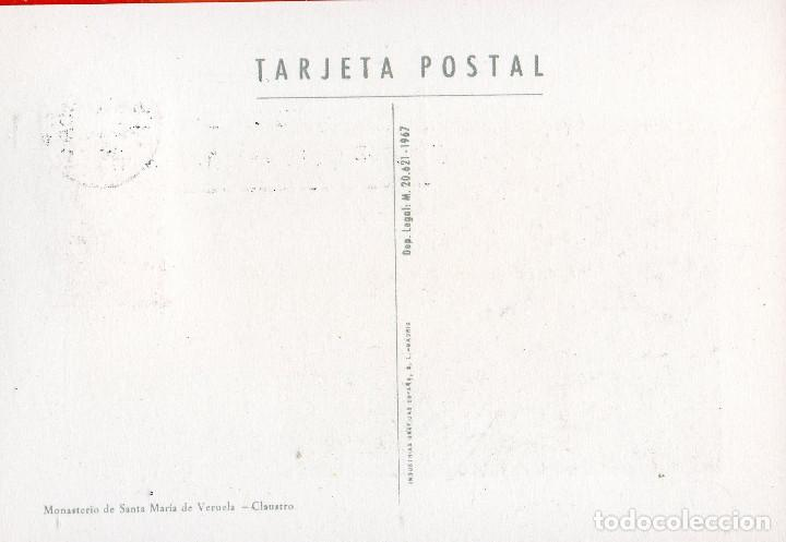 Sellos: VESIV POSTAL POSTAL MANASTERIO DE SANTA MARIA DE VERUELA CLAUSTRO - Foto 2 - 71862899