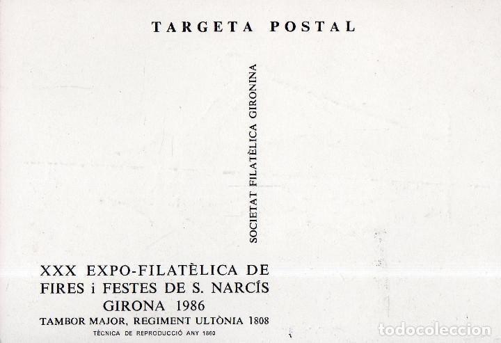 Sellos: VESIV POSTAL XXX EXPO-FILATELICA DE FIRES I FESTES DE S. NARCIS GIRONA 1986 - Foto 2 - 71862951